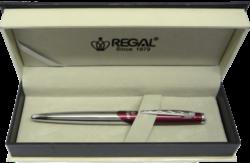 kuličkové pero  Themis - červená-psací souprava Regal