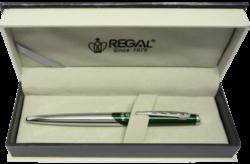 kuličkové pero  Themis - zelená-psací souprava Regal