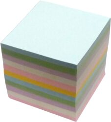 kostka lepená barevná 9x9x9