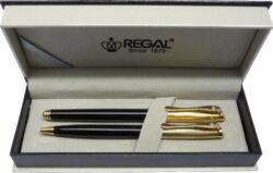 kuličkové pero + roller Cronos - černá-psací souprava Regal
