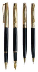 kuličkové pero + roller Cronos - černá(8594033825171)