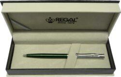 kuličkové pero Lane - zelená-psací souprava Regal