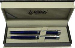 kuličkové pero + roller Katherine - modrá-psací souprava Regal