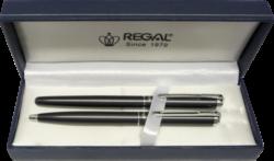 kuličkové pero + roller Harmonia - šedá-psací souprava Regal