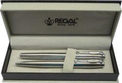 kuličkové pero + roller Hadrian - stříbrná-psací souprava Regal