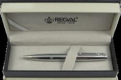kuličkové pero Minos - stříbrné-psací souprava Regal