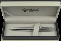 inkoustové pero Minos - stříbrná-psací souprava Regal