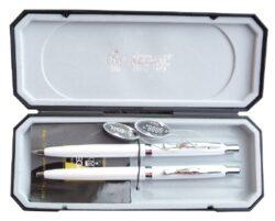 kuličkové pero + mikrotužka Reef - bílá-psací souprava Regal