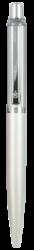 kuličkové pero 454 kovové bílé v krabičce-kovové tělo