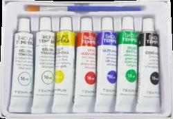 barvy  temperové  Tempus  6 + 1-barvy temperové Tempus 7 x 16 ml
