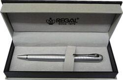 kuličkové pero Wellington - stříbrná-psací souprava Regal