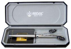 kuličkové pero  Reef - stříbrné-psací souprava Regal