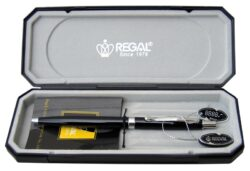 kuličkové pero  Reef - černé-psací souprava Regal