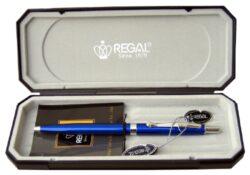 kuličkové pero  Reef - modré-psací souprava Regal