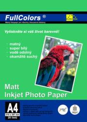 fotopapír Europen A4 180 g  20 ks matný