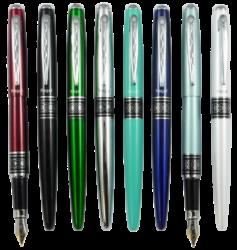 pero bombičkové Regal 574 kovové stříbrné v krab.