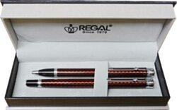 kuličkové pero + roller Ritz - červená-psací souprava Regal
