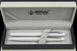 kuličkové pero + inkoustové pero Alice - bílá-psací souprava Regal