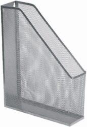 stojánek drátěný na časopisy Europen stříbrný-29,5 x 32 x 7,8 cm