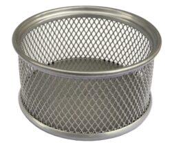 stojánek drátěný na spony Europen stříbrný-8,2 x 8,2 x 4 cm