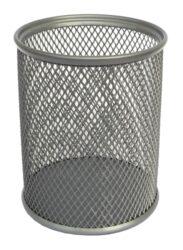 stojánek drátěný na tužky kulatý Europen  stříbrný-8 x 8 x 10,2 cm