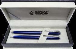 kuličkové pero + inkoustové pero Arachne - modrá-psací souprava Regal