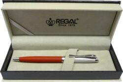 kuličkové pero  Cronos - matná červená-psací souprava Regal