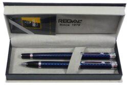 kuličkové pero + roller Ritz - modrá-psací souprava Regal