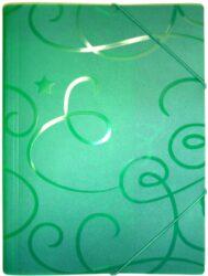 desky  3 klopy s gumou ARCHES A4 zelené