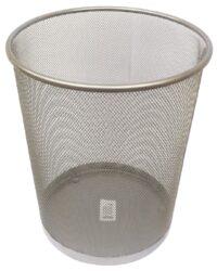koš drátěný Europen stříbrný malý-rozměr: 26,5 x 28,5 cm