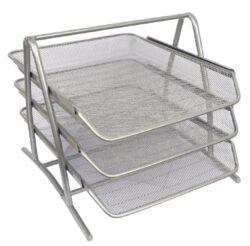 stojánek drátěný trojbox Europen stříbrný
