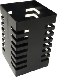 stojánek drátěný na tužky hranatý Europen VD černý-rozměr: 7,2 x 7,2 x 10,8 cm