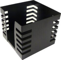 stojánek drátěný na papírky Europen VD černý-rozměr: 9,5 x 9,5 x 8 cm prodej bez papírků