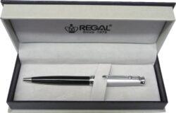 kuličkové pero Darvin - stříbrná-psací souprava Regal