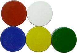 magnet  kulatý 16x5 zelený-PRODEJ POUZE PO BALENÍ