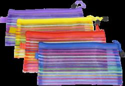 desky se zipem   DL Europen mix barev síťované