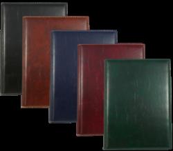 konferenční složka LUX A4 s klipem hnědá-kožené konferenční desky