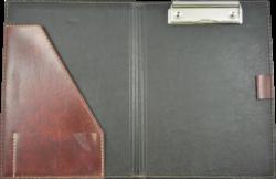 konferenční složka LUX A5 s klipem hnědá(8594033831233)