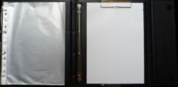 konferenční složka LUX A4 s klipem + 2xčtyřkroužek hnědá(8594033831288)