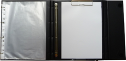 žkonferenční složka LUX A4 s klipem + 2xčtyřkroužek zelená(8594033831295)