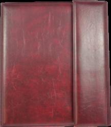 konferenční složka LUX A4 s klipem + 2xčtyřkroužek vínová(8594033831318)
