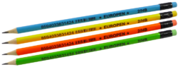 tužka Europen HB s gumou - mix neon barev-PRODEJ POUZE PO BALENÍ