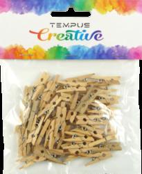 kolíčky dřevo 2,5x0,3cm natural  50ks