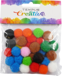 pom poms 20mm bar.mix 30ks