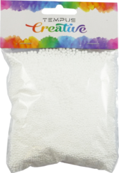 polystyren kuličky bílé 1-3mm 8g