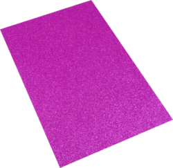 pěnová guma A4 glitr růžová EG-002