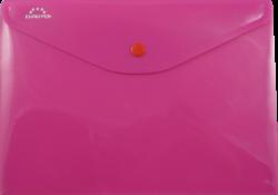 desky s drukem A4O Europen růžové-polypropylenové desky na dokumenty