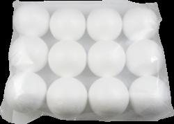 polystyren koule  8cm 12ks
