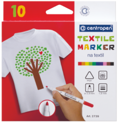 značkovač 2739 na textil 10ks-značkovač Centropen