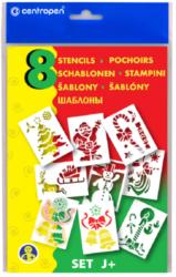 šablony papírové Blopens vánoční 9996/J-foukací fixy - šablony